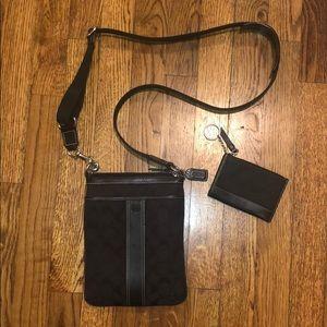 COACH Signature Swingpack & Mini skinny wallet